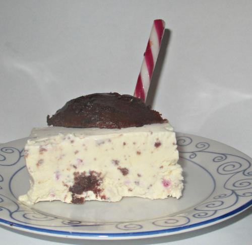 Candy cane brownie ice cream