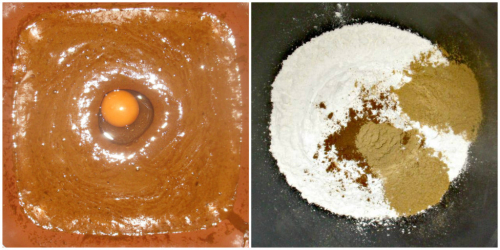 Egg and dry ingredients