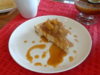 Apple pie cheesecake yum