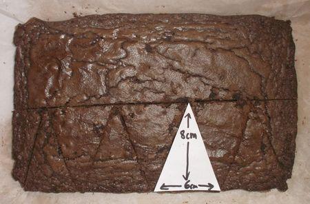 Cut the brownie