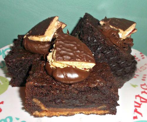 The wagon wheel brownie slice