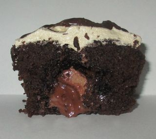 Choc centre cupcake