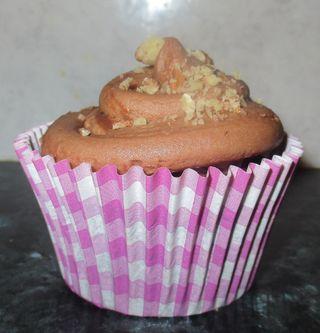 A nutella cupcake