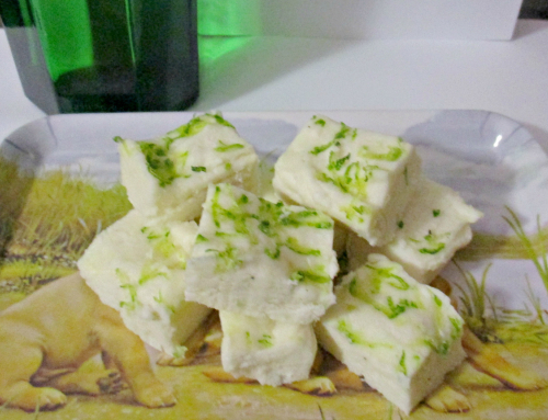Boozy gin and lime chocolate fudge