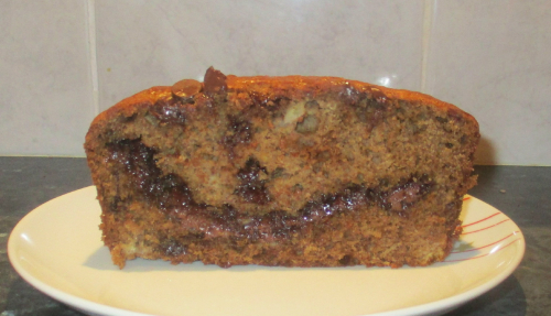 Banana coconut chocolate loaf