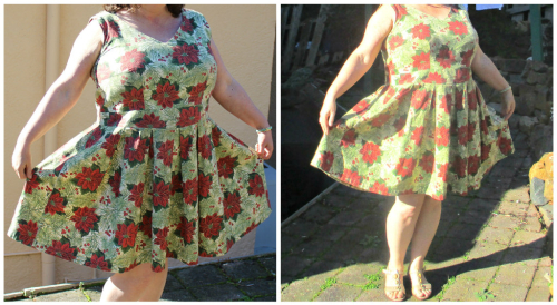 Upton Poinsettia dress