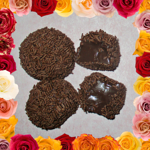Nutella chocolate truffles fake roses