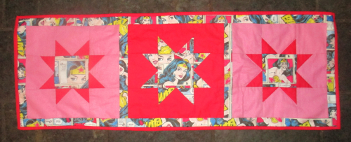 Wonder woman table runner