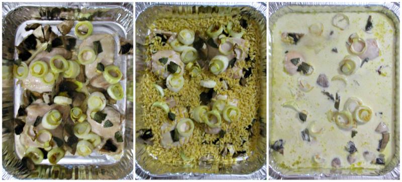 Add risoni liquid and bake
