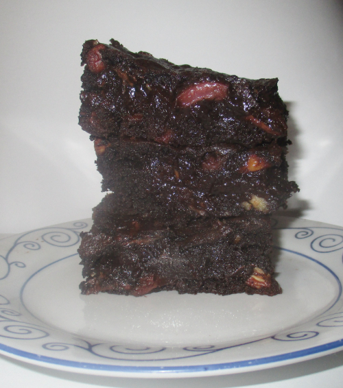 The cherry pecan brownie