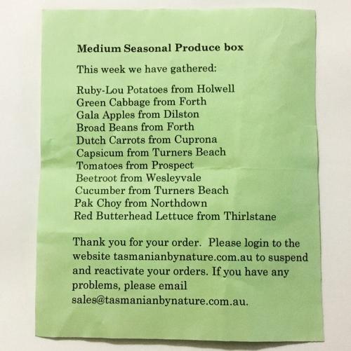 Produce list