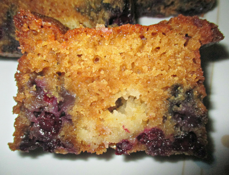 Some blueberry muffin loaf