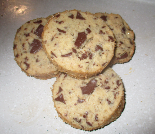 Salted butter choc chunk shortbread